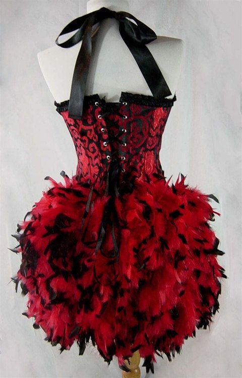size s saloon girl can can moulin burlesque costume w. Black Bedroom Furniture Sets. Home Design Ideas