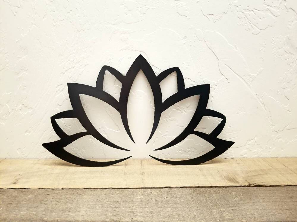 Lotus Flower Decor Metal Wall Art Lotus Flower Art Namaste Etsy In 2021 Lotus Flower Art Metal Wall Art Lotus Flower Mandala