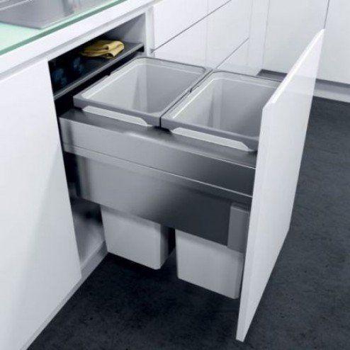 500mm waste bin, 2 compartment Open Plan Pinterest Open plan