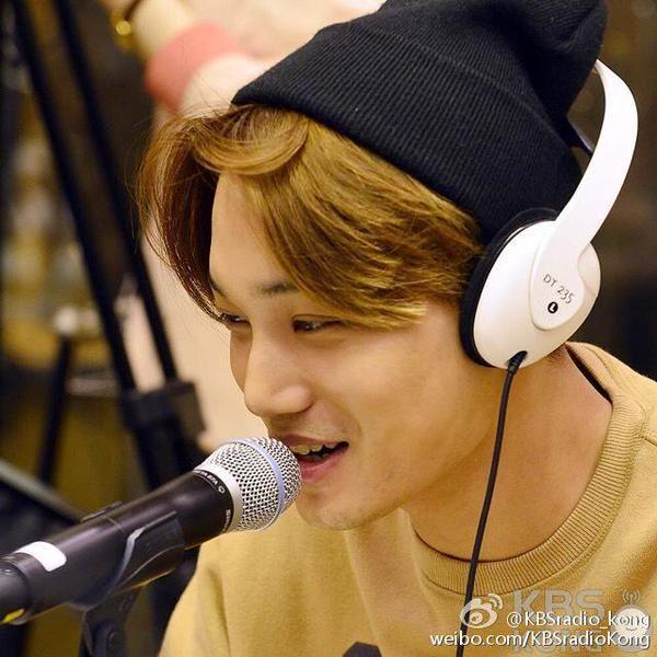 Kai @ KBSradio_kong's Weibo // EXO in KBS Kiss The Radio [150408]