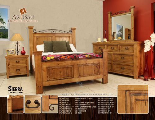 Rustic Southwest Bedroom Furniture Set Bedrooms Pinterest