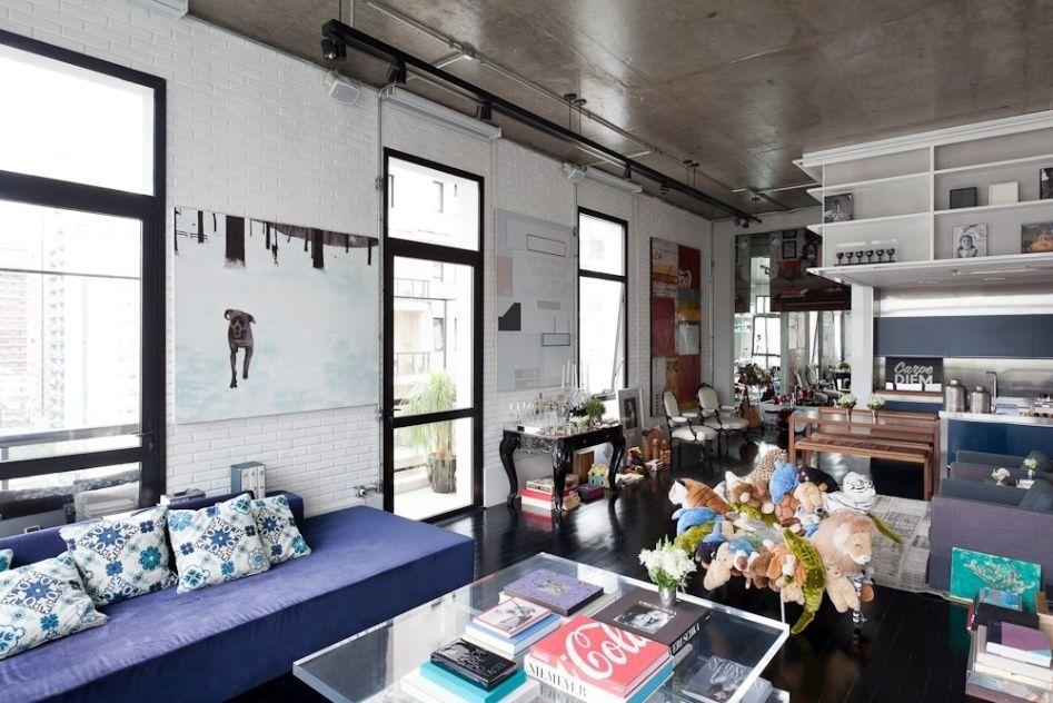 innenarchitektur industriellen stil karakoy loft, apartamento em sp é modernizado, ganha ares de loft e decoração, Design ideen