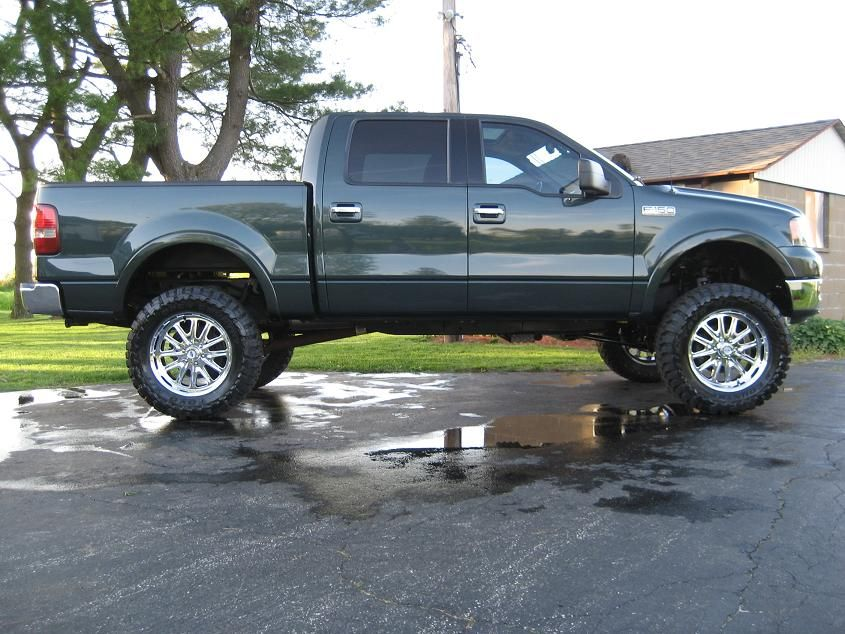 Ford F 150 Lifted 2004 Aspen Green F 150 Lariat Supercrewzer 4x4
