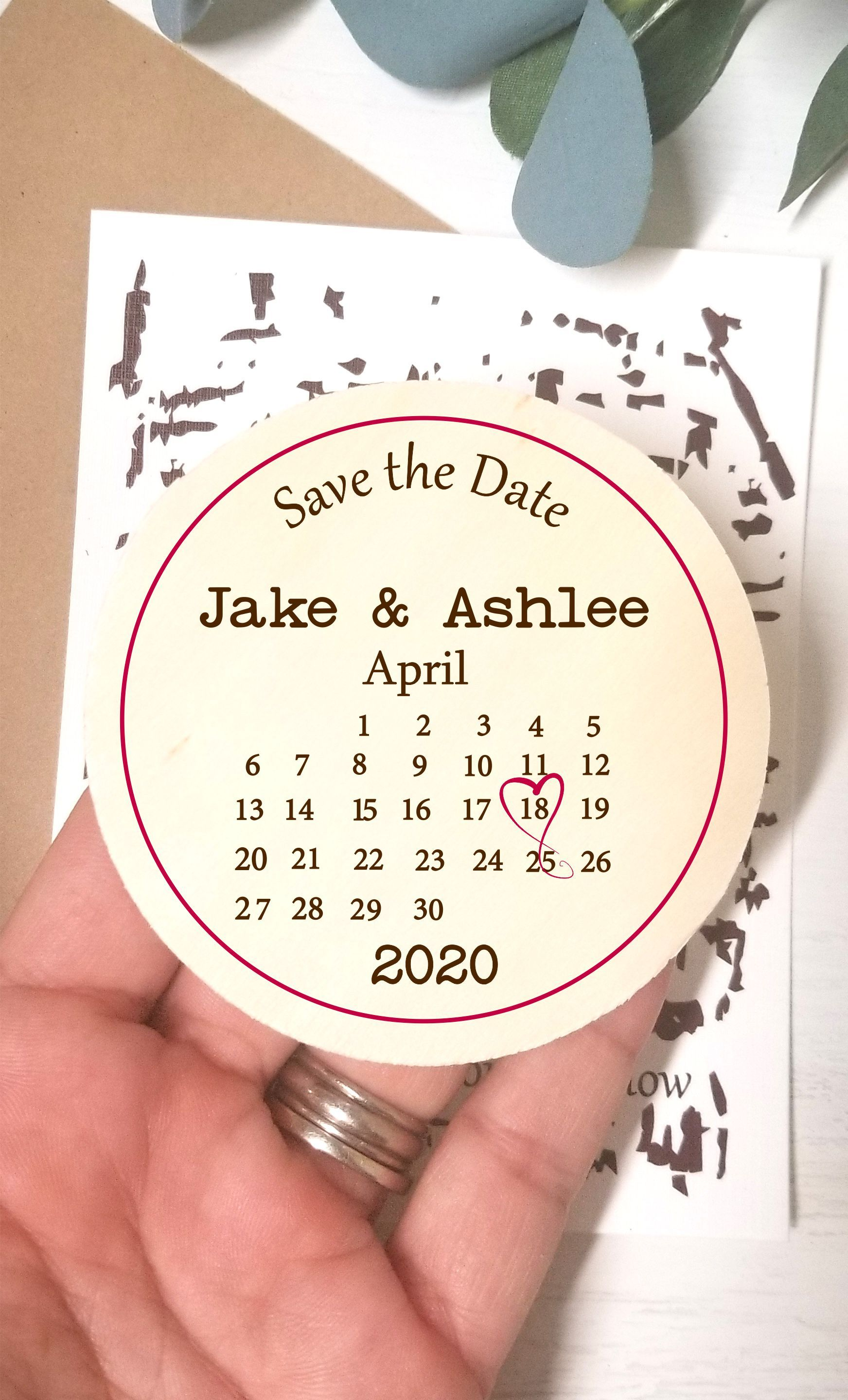 Calendar save the date in 2020 Save the date