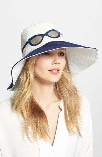 kate spade new york  sunglasses  canvas hat available at  Nordstrom ... 62f0b67bd42