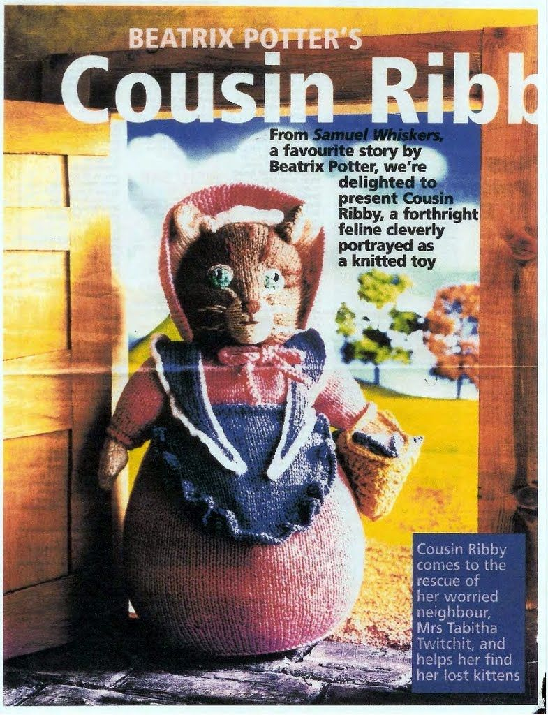 Beatrix Potter\'s Cousin Ribby | B P toys toys | Pinterest | Knit ...