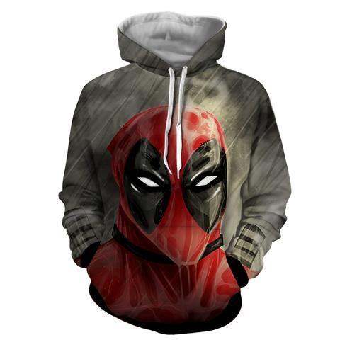 seleccione para el último Precio 50% zapatos exclusivos Deadpool Wet Face Portrait In The Rain Amazing Design Hoodie en ...
