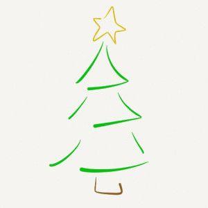 Simple Christmas Tree Sketch Nice Lines Christmas Tree Design