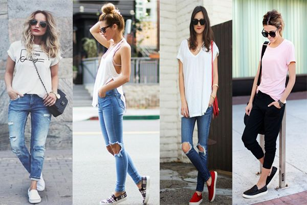 CALÇA-DESTROYED-BLUSA-BRANCA-JOGGERS-SLIP-ON