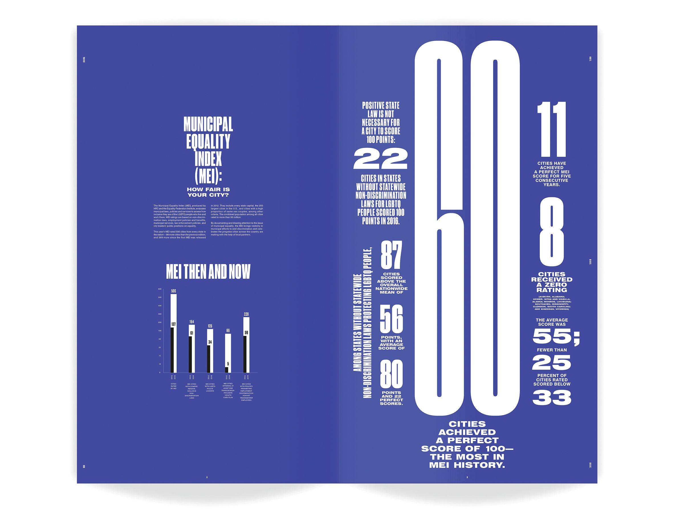 The One Club The One Show Annual Report Human Rights Campaign Graphic Design