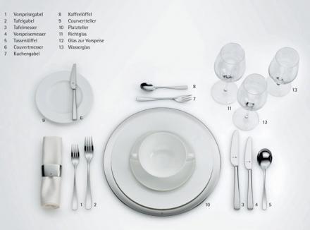 Tisch eindecken an Festtagen