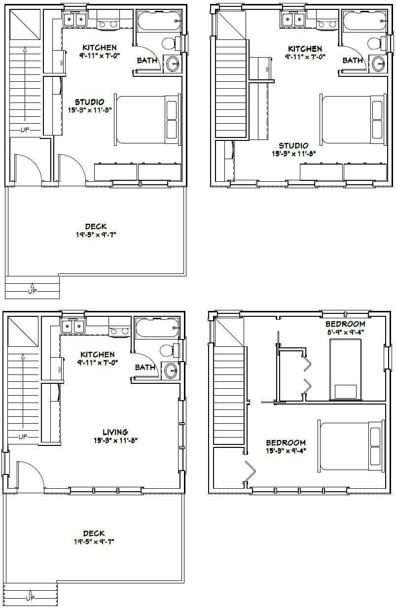 20x20 houses pdf floor plans 683 sq ft for 20 by 20 house plan