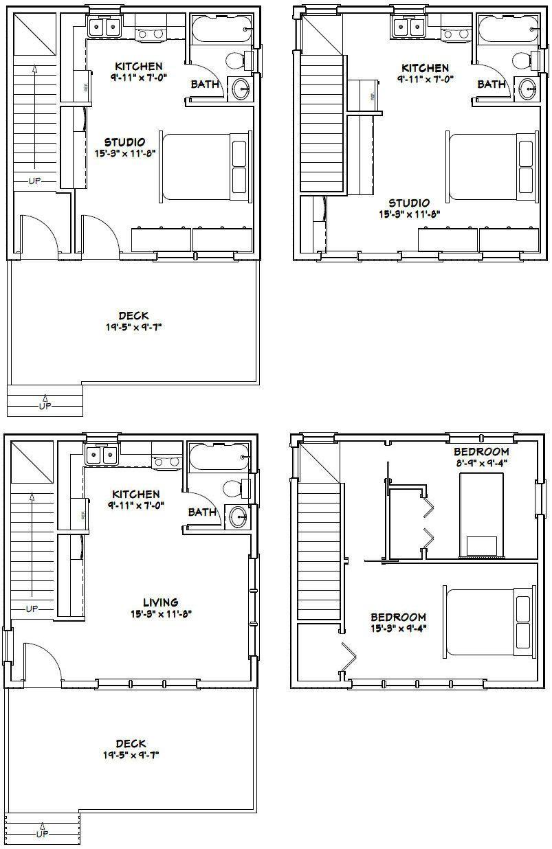 20x20 Houses Pdf Floor Plans 683 Sq Ft Cabin Floor Plans