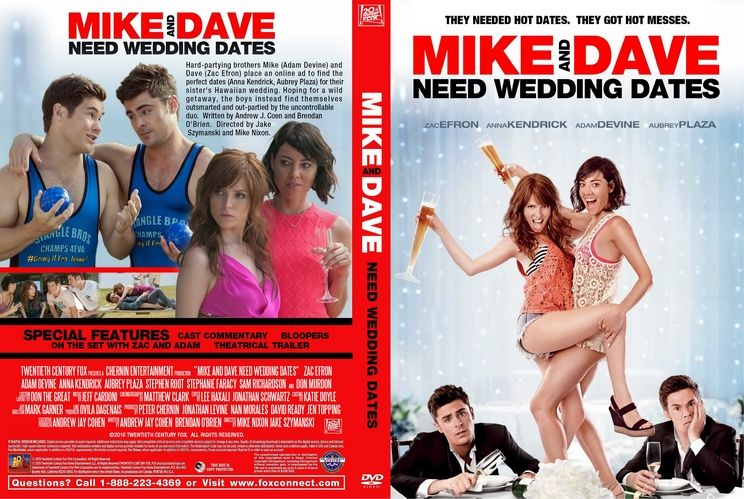 Movies Like Mike And Dave Need Wedding Dates.Mike And Dave Need Wedding Dates 2016 Custom Dvd Cover Places To
