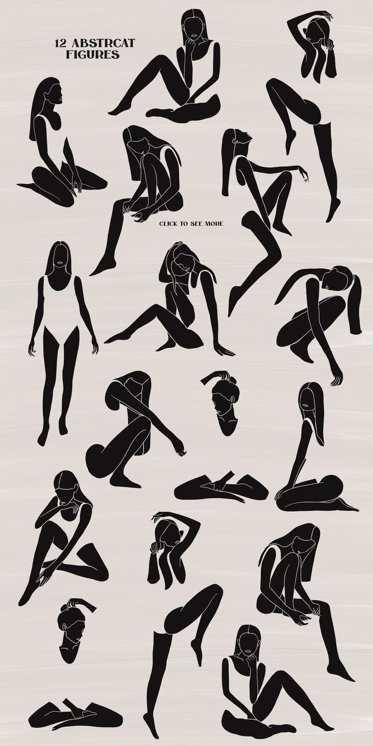 Weibliche Sammlung – Feminine Kollektion von Natdzho auf Creative Market Das sch…
