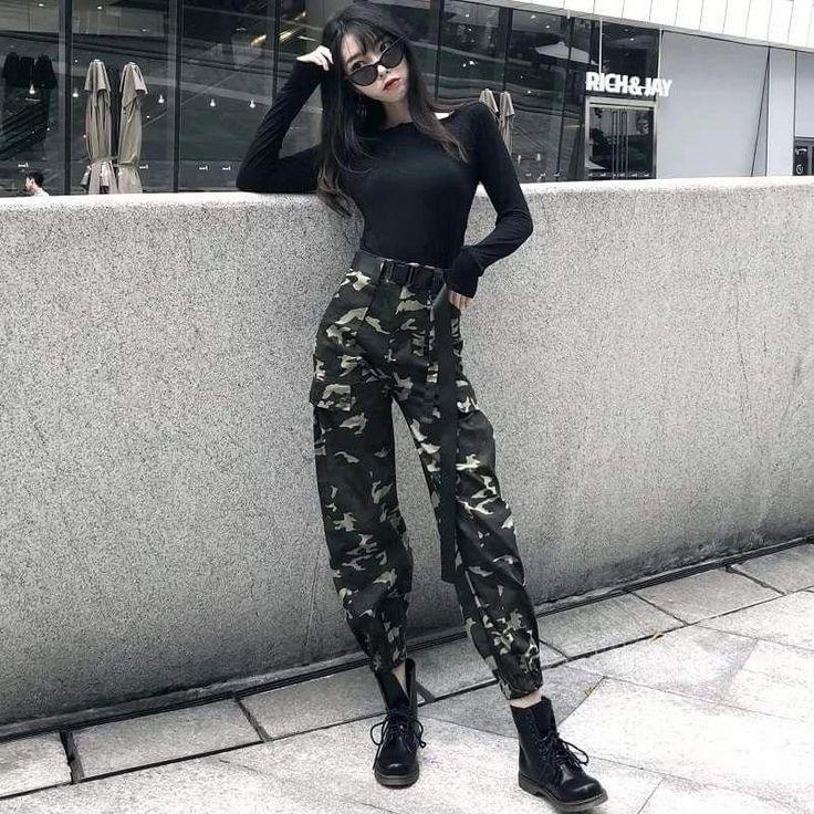 Schauen Sie sich diese trendige koreanische Streetfashion #koreanstreetfashion an