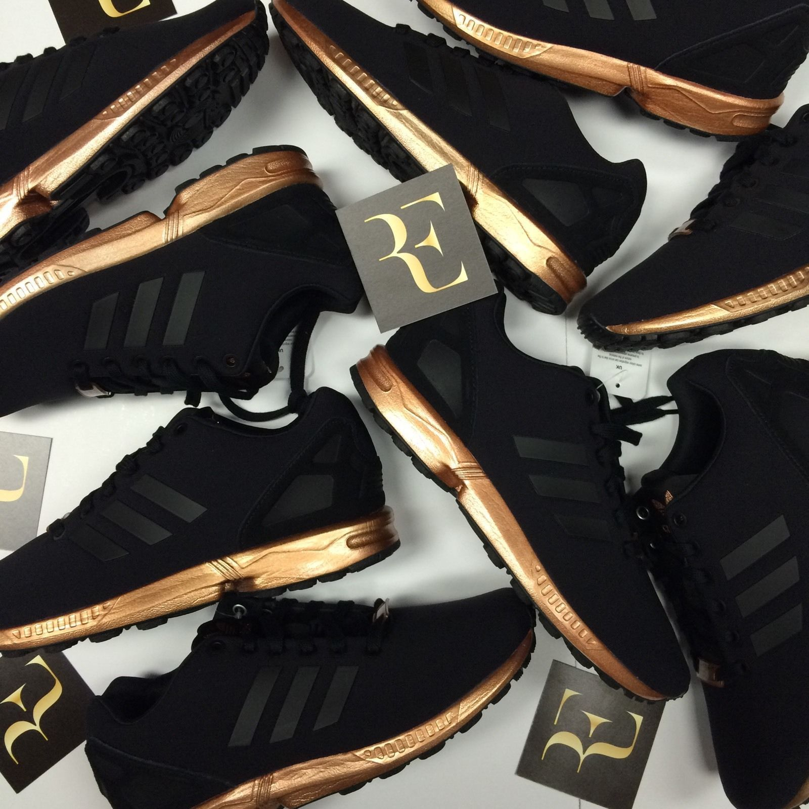 adidas zx flux rose gold trainers nz