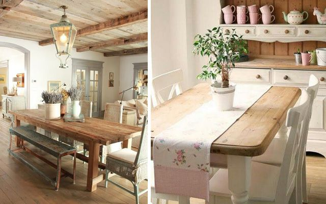 Ideas para decorar el comedor en estilo rustic chic - Ideas para decoracion rustica ...