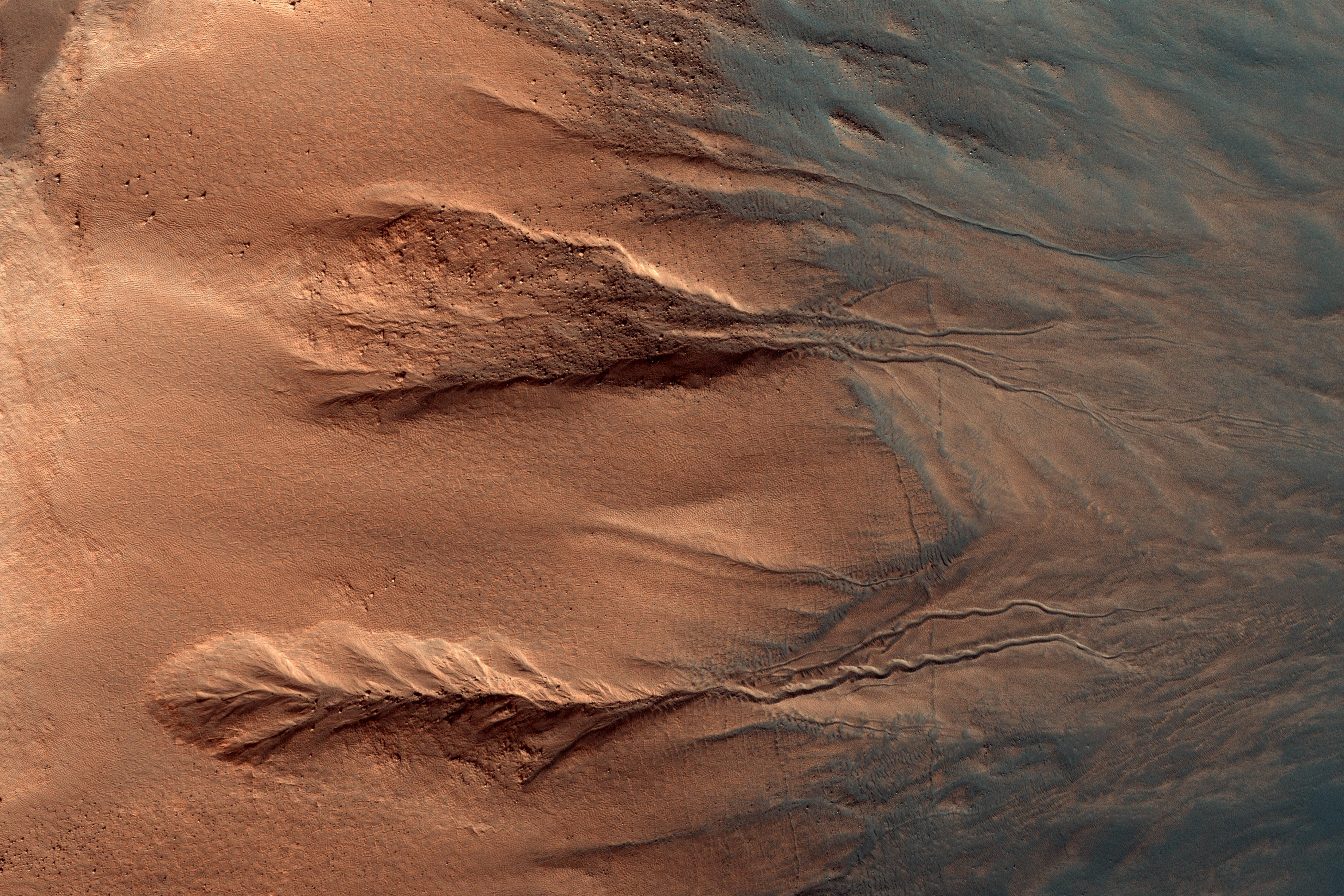 Contrasting Colors Of Crater Dunes And Gullies Mars Exploration Nasa Missions Nasa