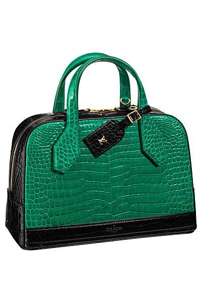 ec93a91c70f9 Green and Black Crocodile Dora Bag by Louis Vuitton Spring 2015 ...