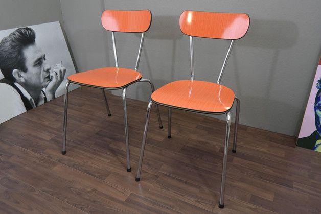 Grüne Küchenstühle ~ Vintage stühle küchenstühle in orange vintage retro er