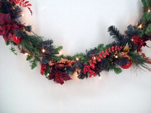 X131 Pre-Lit Decorated Garland (With images) | Christmas ...