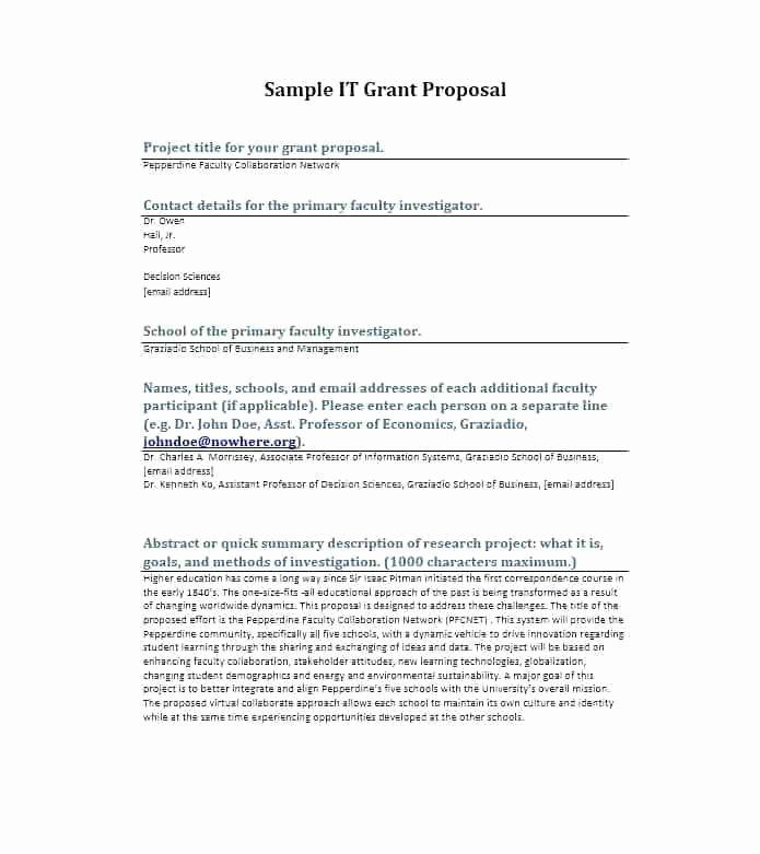 Non Profit Proposal Template Inspirational Grant Proposal
