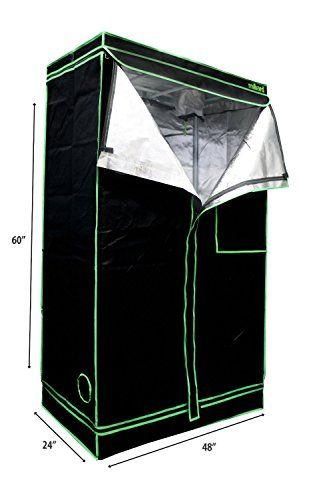 MILLIARD 48 x 24 x 60 100 Reflective Mylar Hydroponic Grow Tent with Window Great for  sc 1 st  Pinterest & MILLIARD 48 x 24 x 60 100 Reflective Mylar Hydroponic Grow Tent ...
