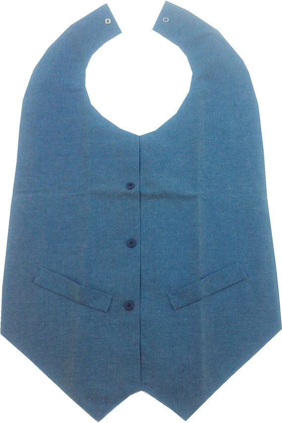 Bib adult bib disability clothes adaptive clothes by DressWithEase ...