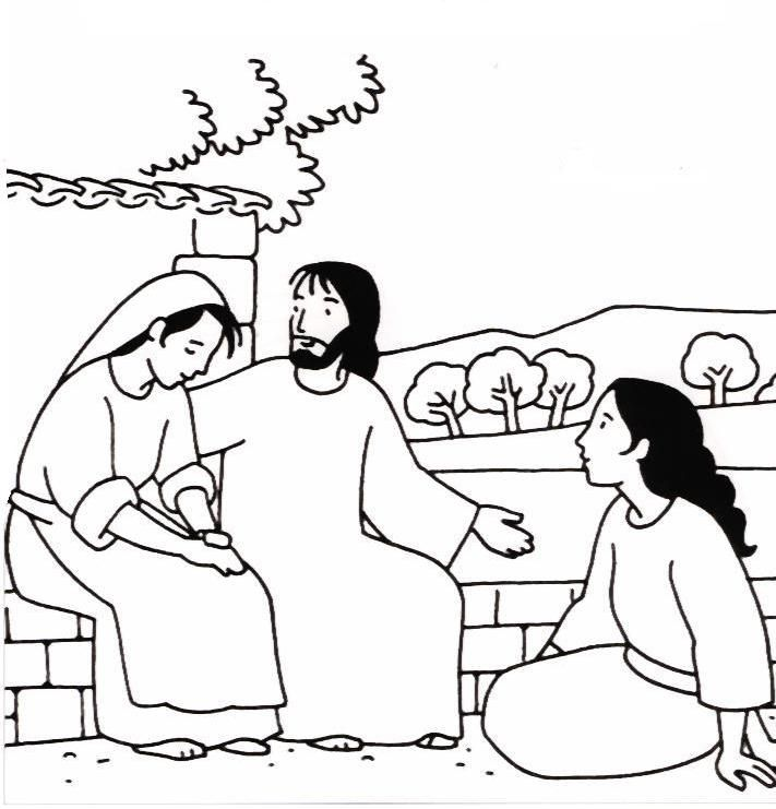 Let S Talk Sunday School Coloring Pages Mary And Martha Bible