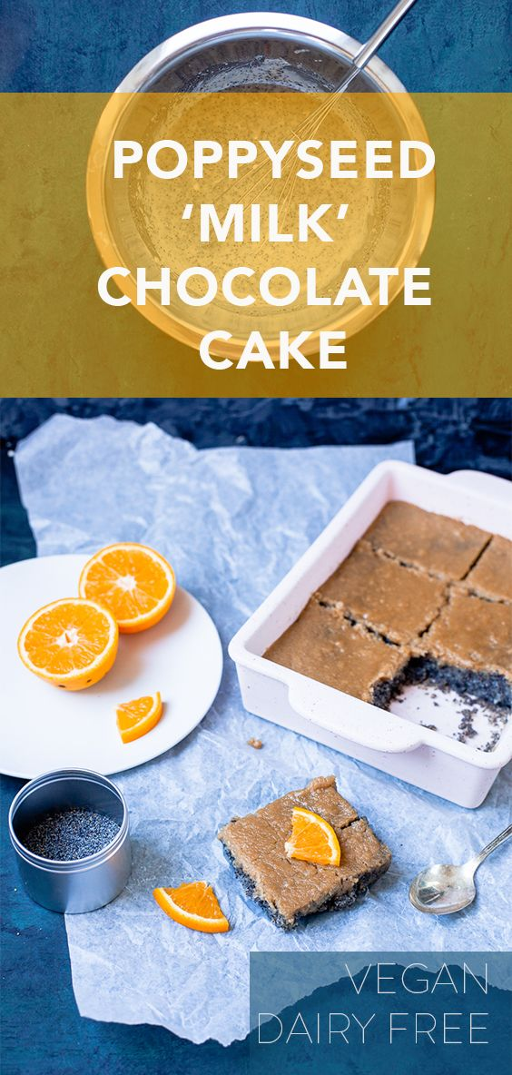 Poppyseed 'milk' chocolate cake Milk chocolate cake