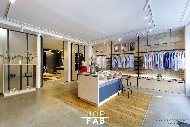 Agencement Sur Mesure Boutique De Pret A Porter Masculin Paris