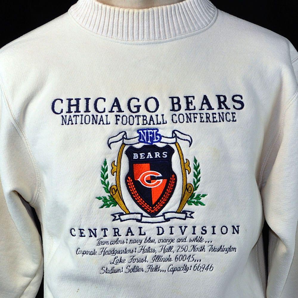 Vtg Chicago Bears #NFL Sewn Nutmeg Mills Medium Sweatshirt #MadeInUSA NFC  Embroidered #ChicagoBears