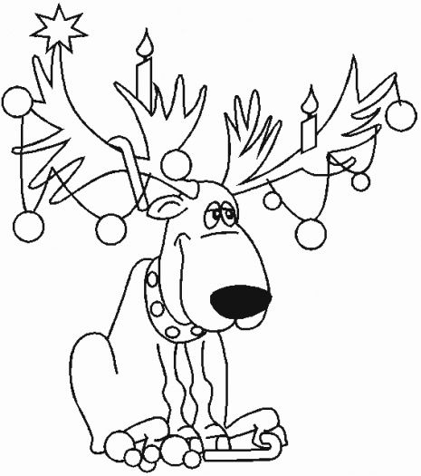 christmas coloring sheets christmas deer coloring page super coloring