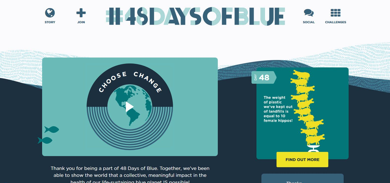 Brilliant use of CSS animation, text rotation, and multiple background images to create 48daysofblue.com #48daysofblue #CSS3 #webdesign