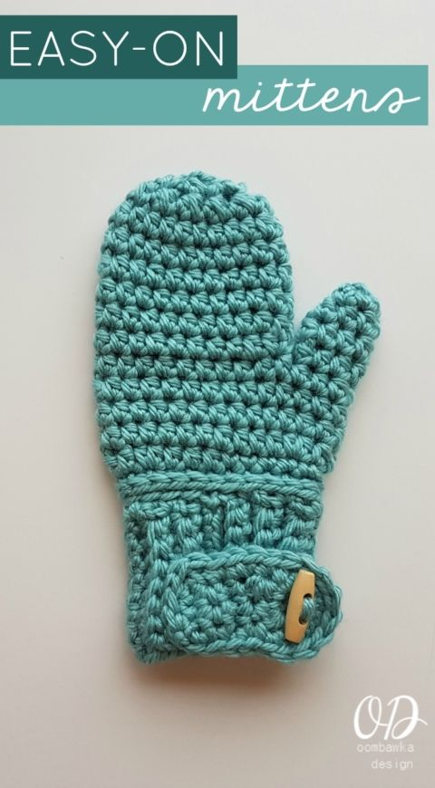 EASY-ON MITTENS FREE PATTERN Oombawka Design Crochet | Knitting ...
