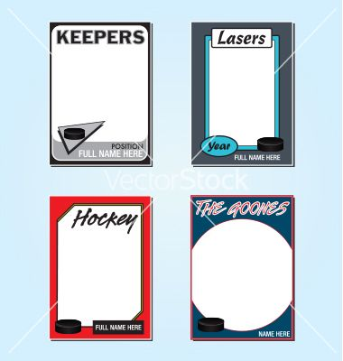 free hockey card templates download fun fonts printables