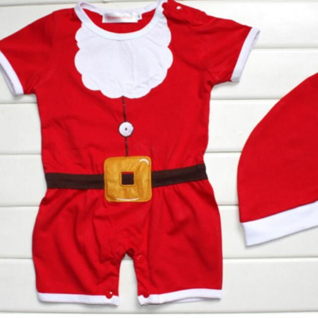Christmas Theme Rompers with Hat (2 pcs) ♡ BCL-02