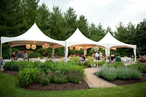 Sun Setting Wedding Reception At Avon Gardens