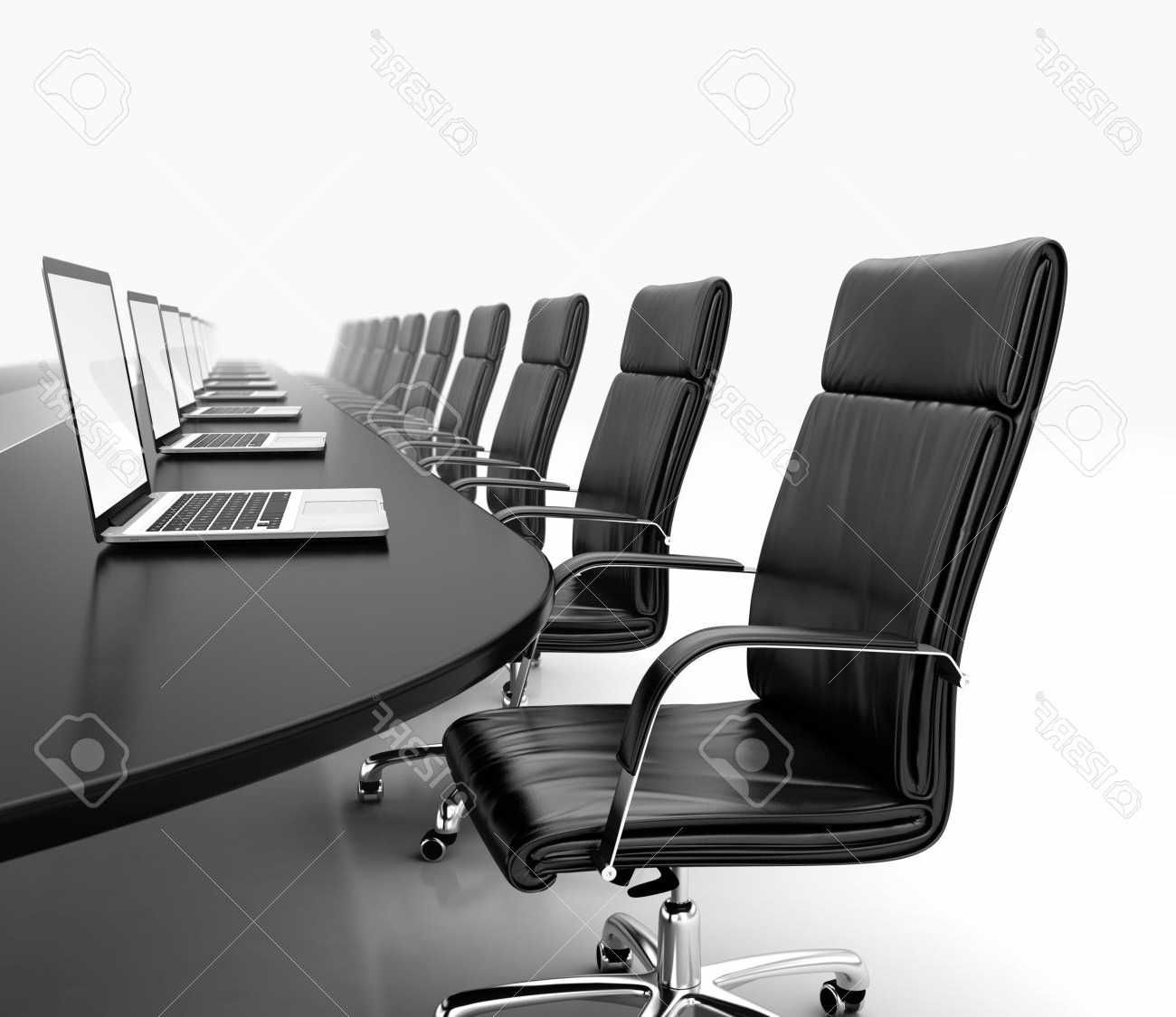 Black Leather Conference Room Chairs