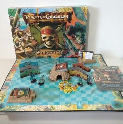Pirates of the caribbean buccaneer board game pirates of the hasbro 2 players war 8 11 years board traditional games ebay fandeluxe Image collections