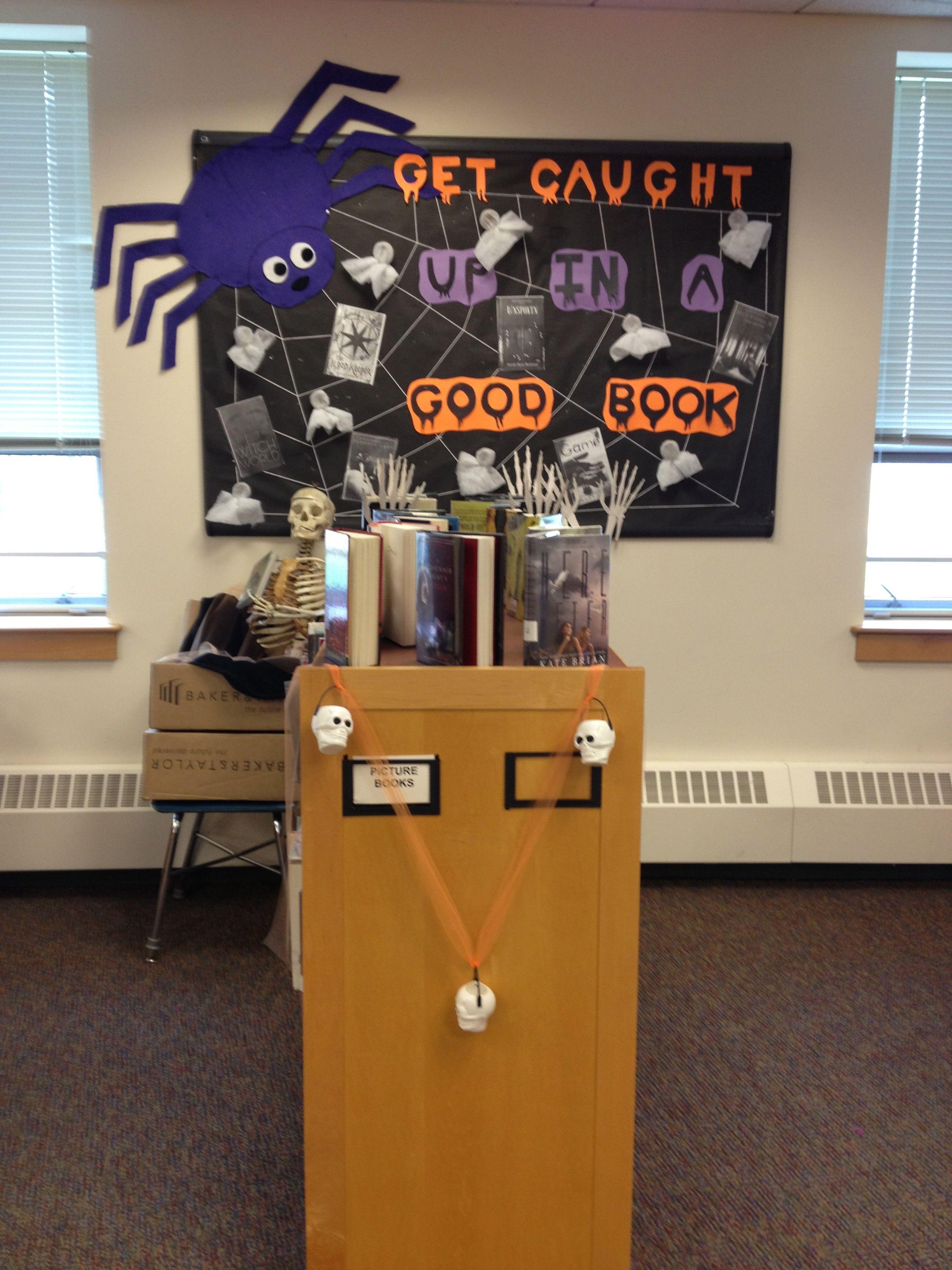 Middle School Library Bulletin Board October