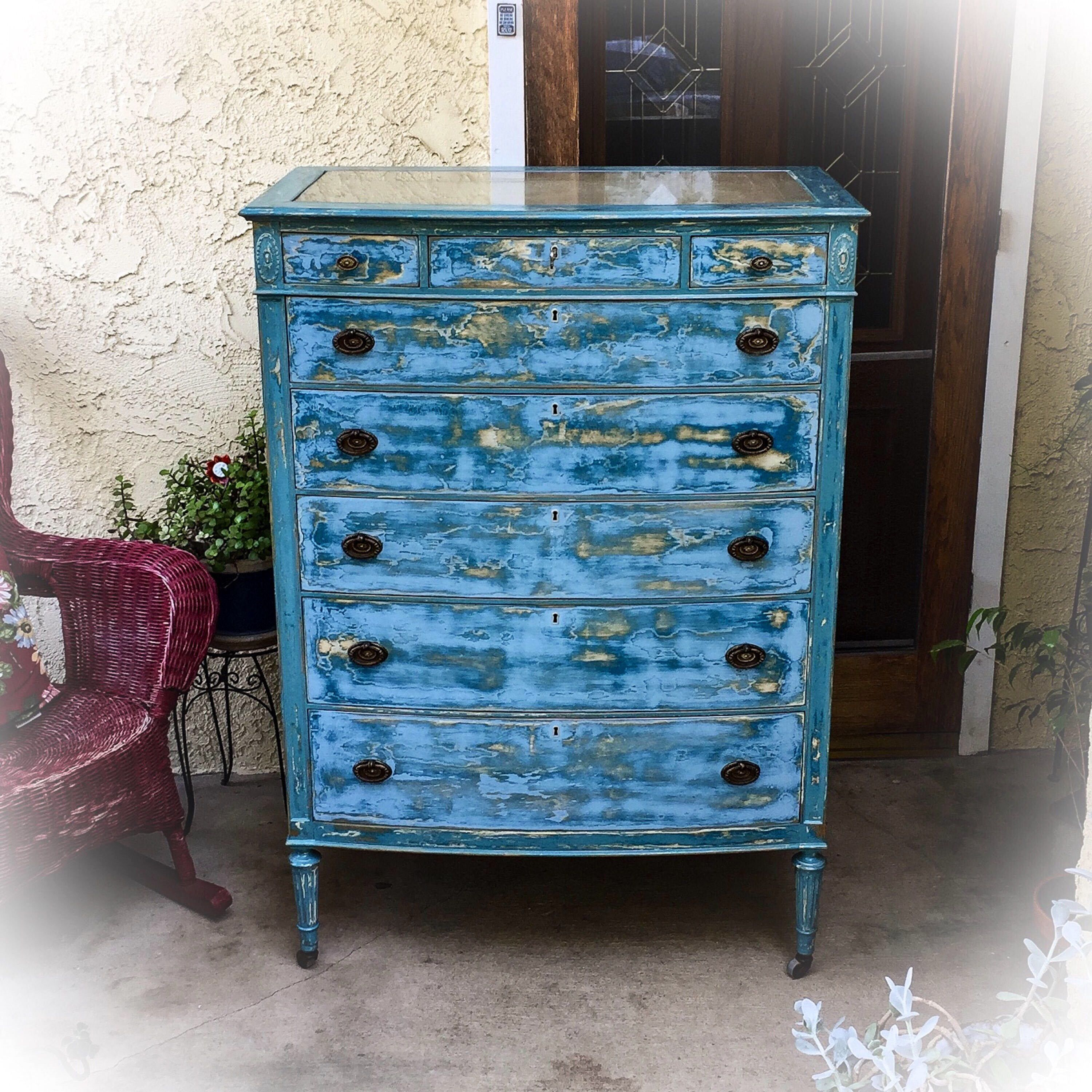 Large, French, Antique Dresser, distressed, shabby chic dresser ...