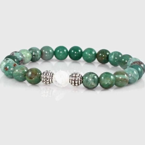 African Jade And Quartz Crystal Yoga Bracelet Meaning Of Is A Stone That Resonates Well With Each Main Energy Center The Being
