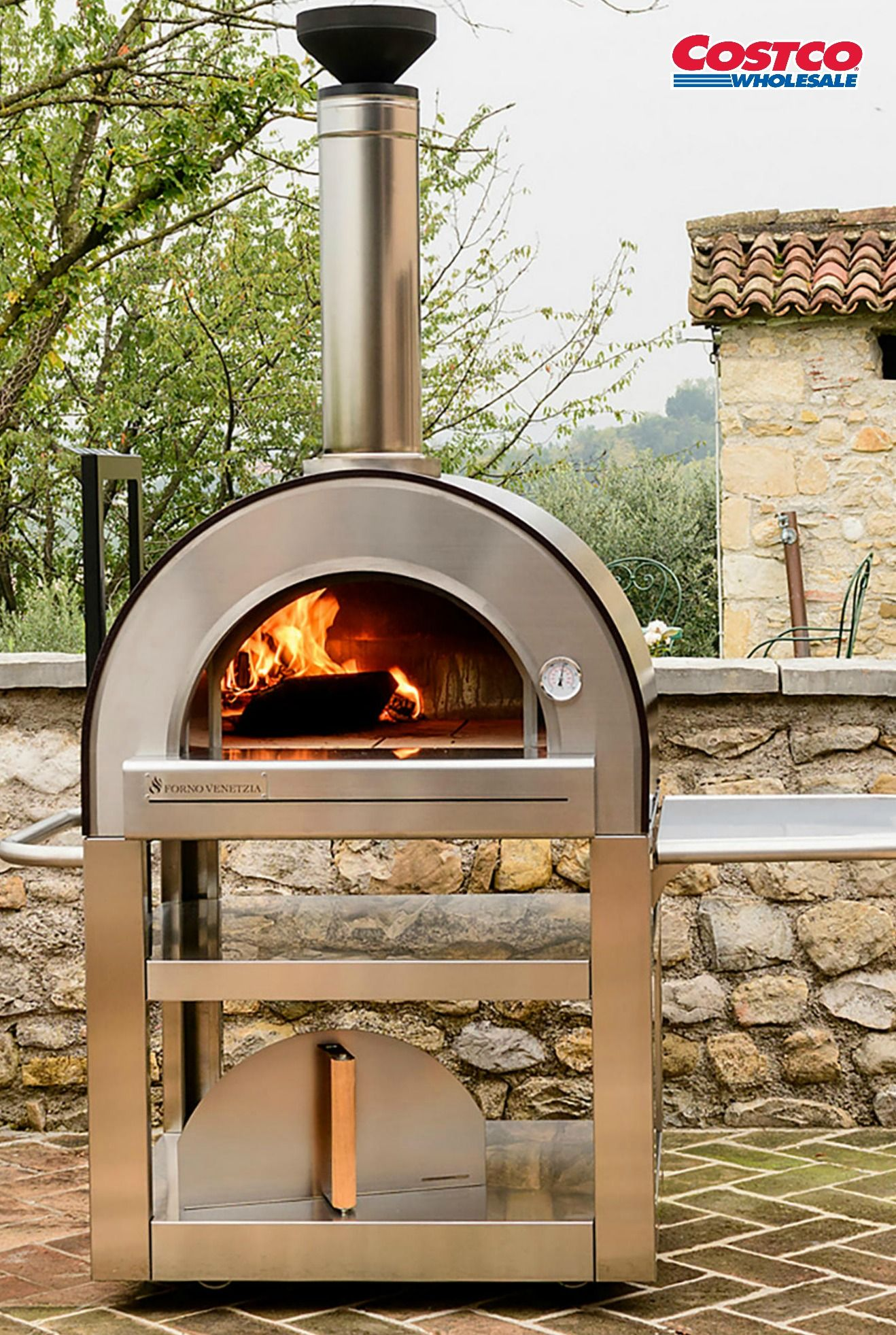 Forno Venetzia Pronto 500 Outdoor Wood Burning Pizza Oven Wood