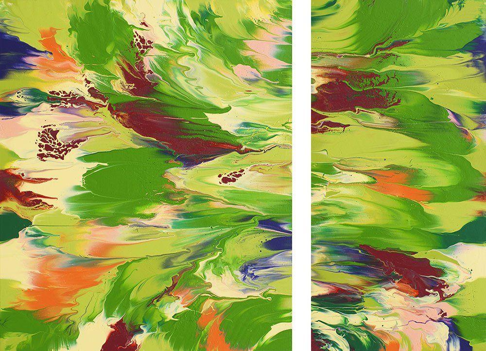 Spring Break Original Painting Diptych 36 X 48 In 2019