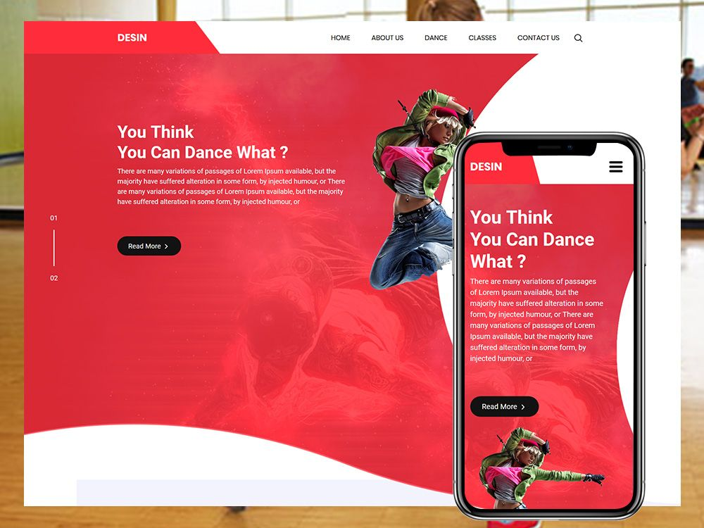 Desin Dance Classes Html Template Templates
