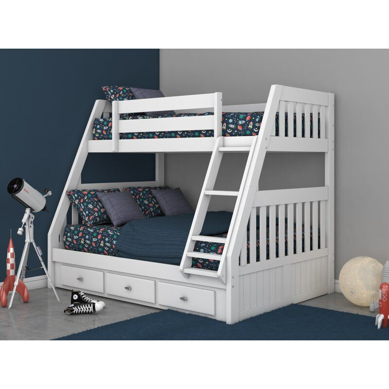 Orval Twin Over Full Bunk Bed With 3 Drawers In 2020 Full Bunk Beds Bunk Beds Bed For Girls Room
