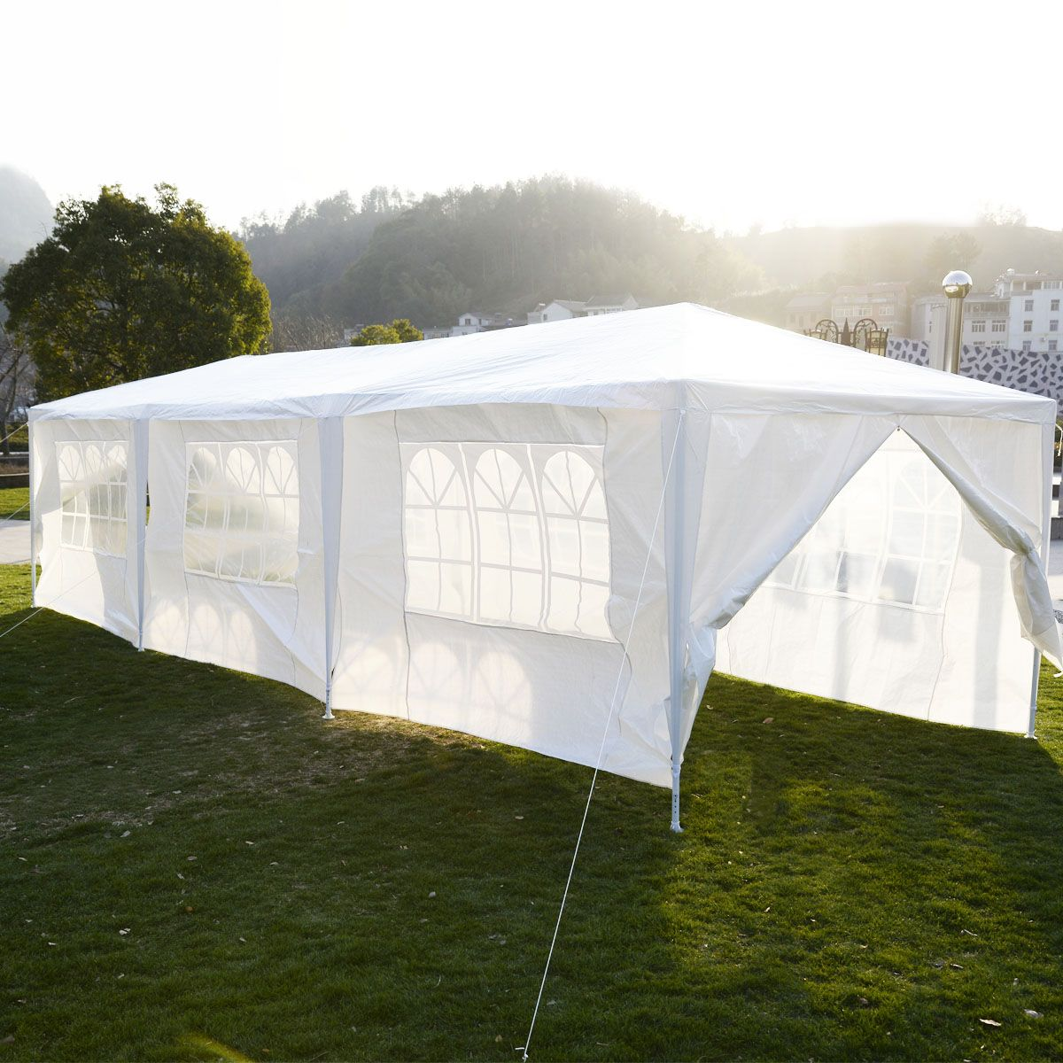 10 X 30 White Party Tent Gazebo Canopy Patio Tents Canopy Outdoor Heavy Duty Gazebo