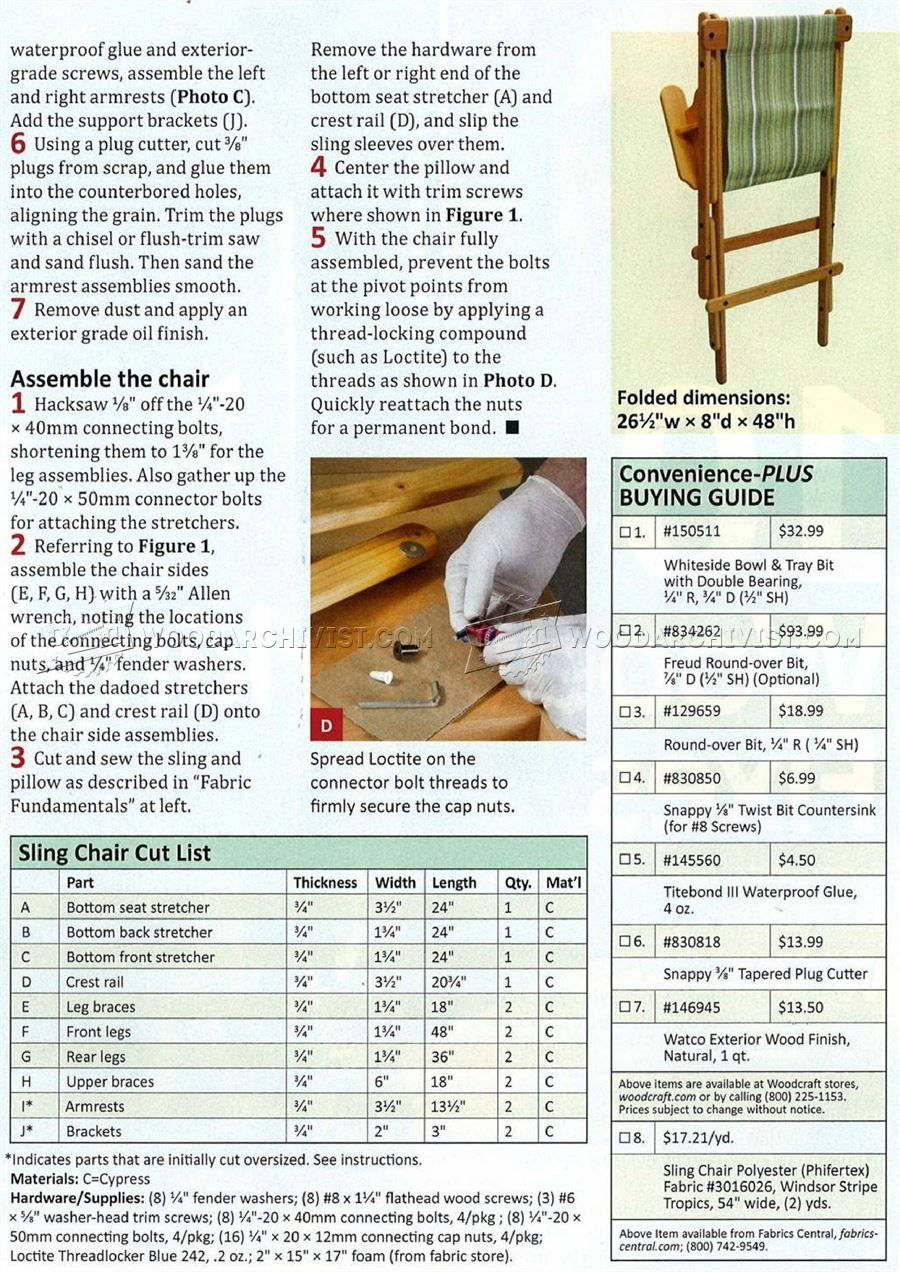 Sling Chair Plans Outdoor Furniture Plans Outdoor